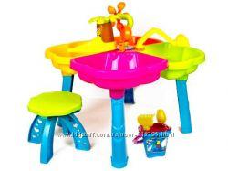 Песочный столик с набором стульчиком для кинетического песка 01-121