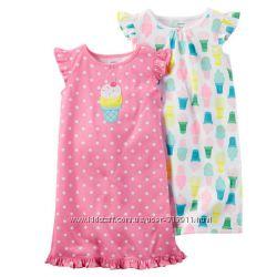 Комплект из 2 ночнушек-CARTERS- для девочки 4-5 лет-новые-ниже цен сайта