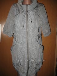 Классный, жатый, серый плащ с 3-4 рукавом ф. Ofelia р. XL р. 48
