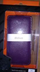 Чехол для HTC One, натуральная кожа, фиолетовый