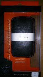 Чехол для HTC Desire C, натуральная кожа, черный