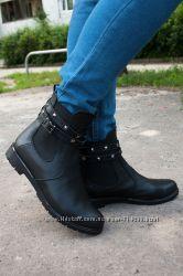 Ботинки-Челси с ремешками кожаные. Доступный цены