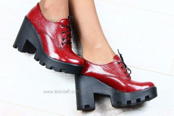 Женские туфли тракторы