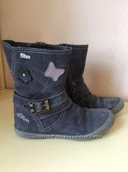 Демисезонные ботинки для девочки S. Oliver - кожа, замш. Сапоги
