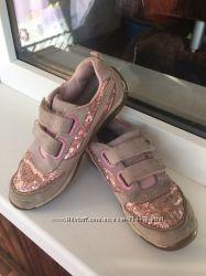 Кроссовки кеды для девочки с пайетками замшевые Strite ride