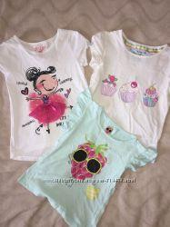 Фирменные футболки для девочки. Большой выбор, разные цены.