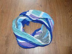 Стильный шарф в голубых оттенках