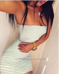 Невероятное мятное бандажное платье topshop petite