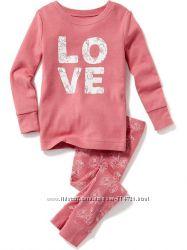 Детская пижама Old Navy для девочки 3T, 4T, 5T