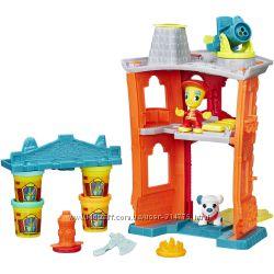 подарок мальчику большой набор Пожарная станция Play-Doh пластилин Хазбро