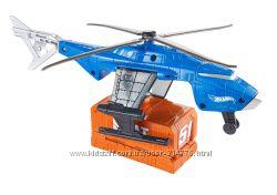 вертолет с функцией запуска на трек Хот Вилс и машинка Hot Wheels, оригинал
