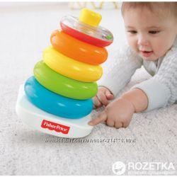 развивающая игрушка большая пирамидка погремушка оригинал Fisher-Price США