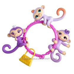 мини обезьянки 4 см фигурки малыши WowWee Fingerlings Minis оригинал Канада