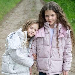 Распродажа  Зимняя блестящая куртка для девочек DT-8314 X-Woyz 110-158 р
