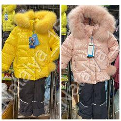 Зимний костюм - комбинезон Donilo 6132 для девочки с пушком 98-128 р