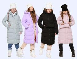 Матовое удлиненное зимнее пальто для девочек X-Woyz DT-8328 110-164 р.