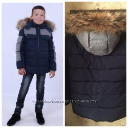 Акция куртка зимняя, для мальчика от anernuo 130-170р.