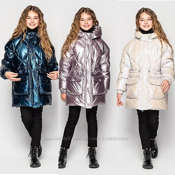 Зимняя куртка парка для девочки от Cvetcov Ясмин 128-164 р.