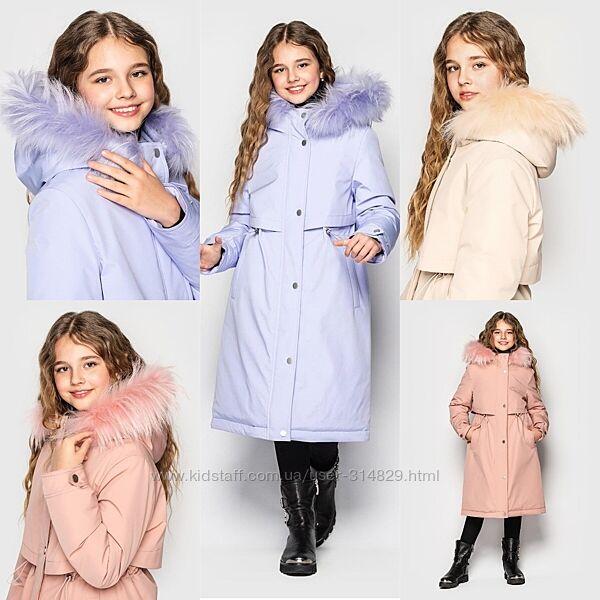 Пальто парка для девочки от Cvetcov Айрин 128-164 р.