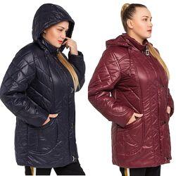Демисезонная женская куртка большие размеры 52-62 р.