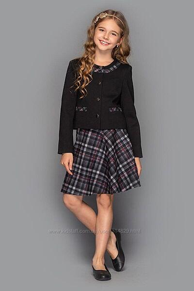 Школьный костюм Хлоя пиджак юбка 116, 134, 140, 146