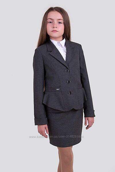Школьный костюм Виола пиджак юбка 140, 146, 152