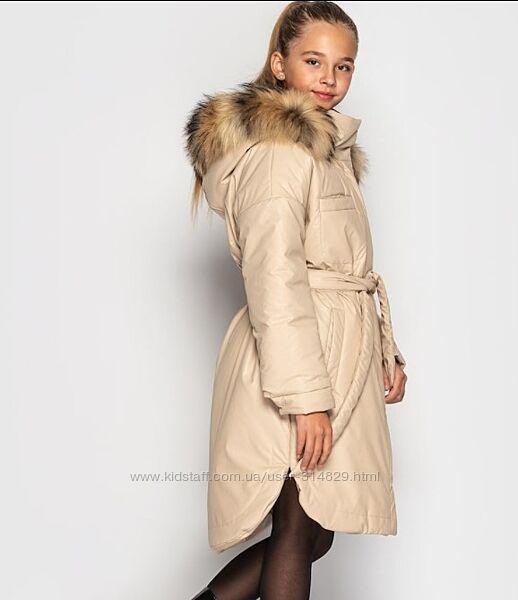 Модная зимняя куртка пальто для девочки николь от cvetkov 128-158 р
