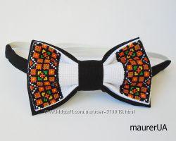 Краватка -метелик з гуцульським орнаментом-2