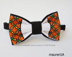 Краватка -метелик з гуцульським орнаментом-1