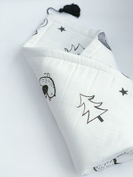 Плед- одіяло та подушка з китицями