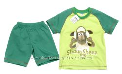 Костюм Баранчик Шон зеленый пижама детская