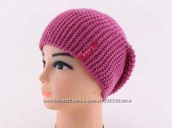 Стильная теплая шапочка с серебристой нитью 54-56