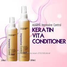 Несмываемый кератиновый кондиционер-спрей для волосMugens Keratin. 250 мл