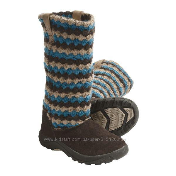 Зимние ботинки с вязаным чулочком Keen 25- 26р. стелька 15,5-16см