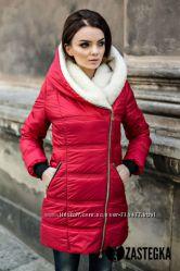 Теплые зимние женские парки куртки на овчине Разные цвета и размеры