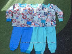 Пижамы на мальчика с начесом рост 104, 110, 116см
