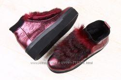 Яркие зимние ботинки, полусапожки, угги. Натуральная кожа Много моделей