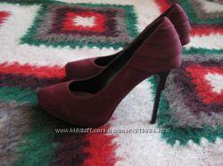 Туфли ronzo цвет марсала 39р