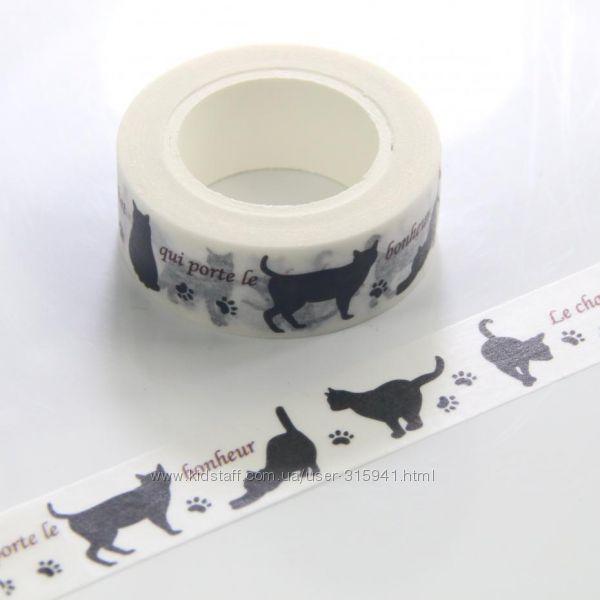Бумажный скотч для скрапбукинга Кошки