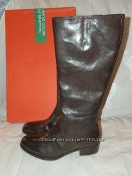 Benetton новые сапоги кожаные 38 размер