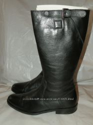 Sisley итальянские натуральные кожаные сапоги 39 размер