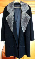 oversize пальто-кокон натуральный каракуль Л