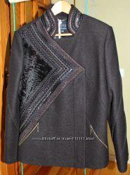 Пальто Raslov 46 размер цвет горький шоколад