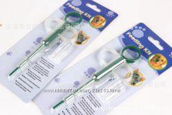 Ветеринарный шприц для дачи таблеток животным, Зубная щетка для собак