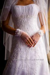Шикарное свадебное платья известного бренда Pattis Bridal США