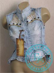 Мегамодная Джинсовка, джинсовая жилетка