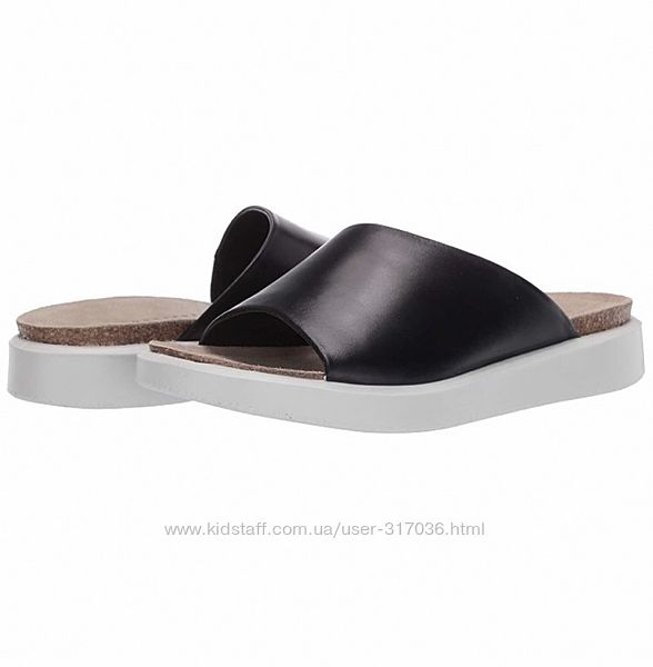 Кожаные шлепки Ecco р. 41 ст. 27 corksphere slide sandal
