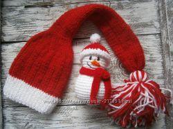 Новогодние шапочки для деток. Ручная работа