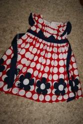 Красивое оригинальное платье Laura Ashley, хлопок, 2-4 года, бу