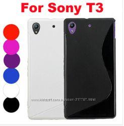 силиконовый S-line TPU чехол Sony Xperia T3 D5103 D5106  D5102 D5105, m50w